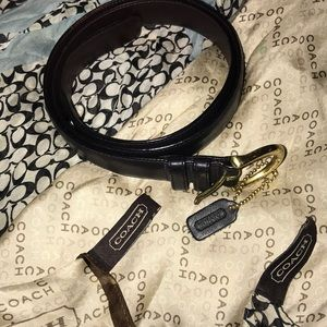 Coach belt and two coach purse scarves